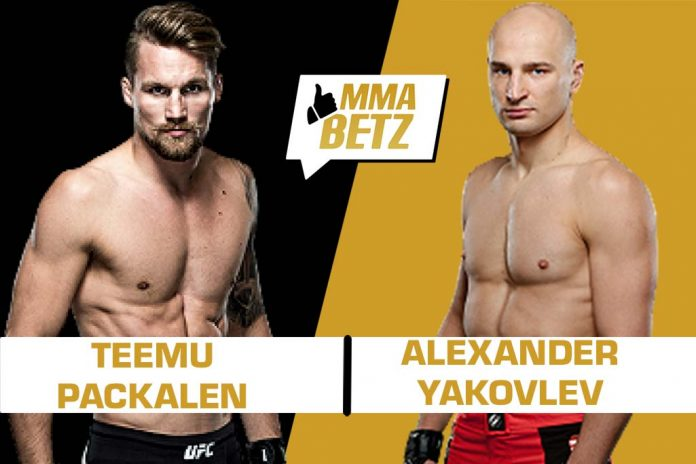UFC St Petersburg Teemu Packalen vs Alexander Yakovlev