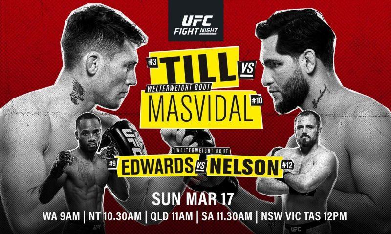 UFC Fight Night 147: Till vs  Masvidal Odds and Predictions