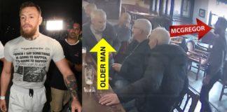 McGregor hits elderly man over dispute