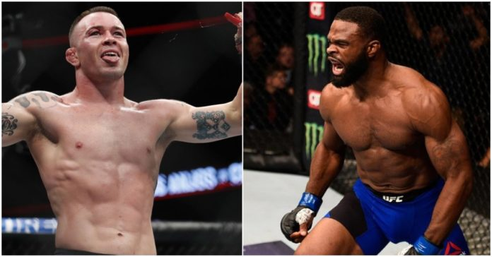 UFC Colby Covington and Tyron Woodley