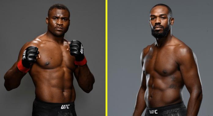 UFC Francis Ngannou and Jon Jones