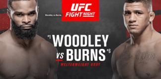 UFC Vegas Tyron Woodley vs Gilbert Burns