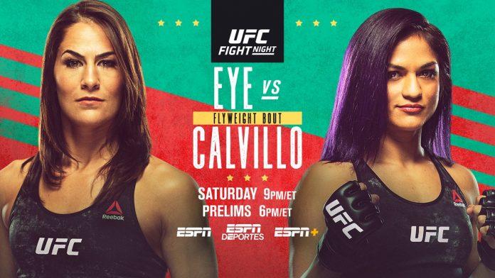 UFC Vegas 2 Jessica Eye vs Cynthia Cavillo results
