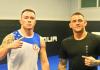 UFC Dustin Poirier and Colby Covington