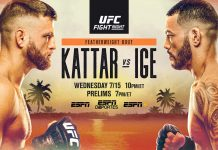 UFC Fight Island 1 results: Kattar vs Ige
