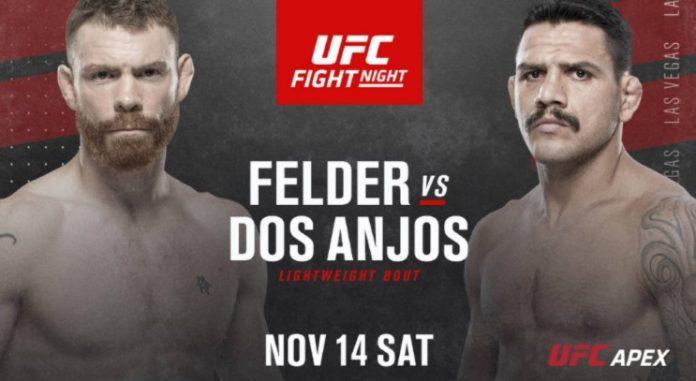 UFC Vegas 14 Felder vs dos Anjos results