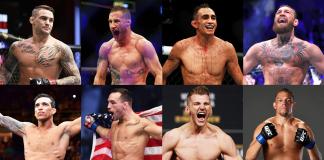 UFC lightweights, Poirier, Oliveira, Gaethje, Chandler, Ferguson, Hooker, McGregor, Diaz