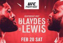 UFC Vegas 19: Blaydes vs Lewis