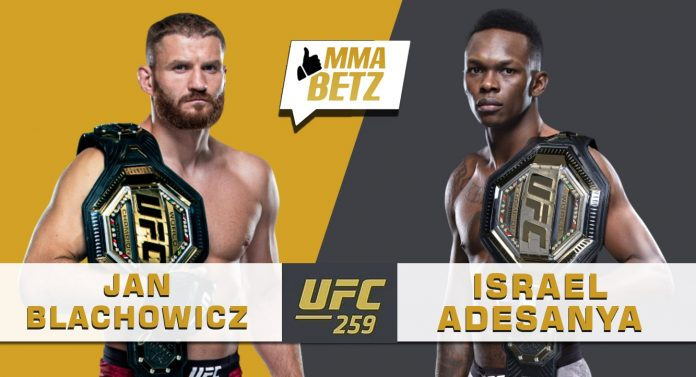 UFC 259 Blachowicz vs Adesanya