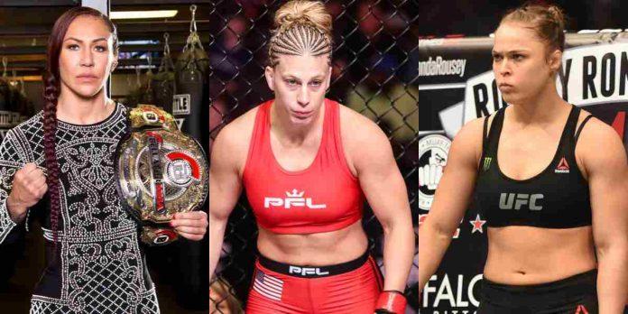Cris Cyborg, Kayla Harrison, Ronda Rousey (1)