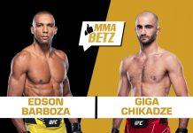Edson barboza vs Giga Chikadze